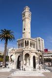 从伊兹密尔的古色古香的钟塔 库存照片