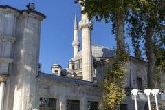从伊斯坦布尔土耳其的艾郁普苏丹清真寺 库存照片