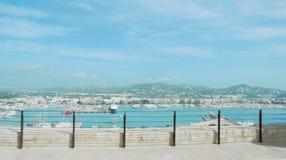 从伊维萨岛城堡的看法 库存照片