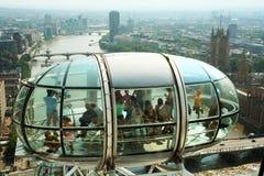 从伦敦眼的观点 免版税库存照片