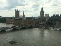 从伦敦眼睛视图的看法 库存图片