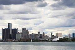 从佳丽小岛的底特律地平线 库存图片