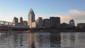 从俄亥俄河的辛辛那提视图 股票录像