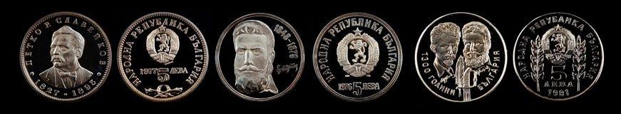 从保加利亚的纪念硬币列弗 免版税图库摄影