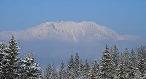 从倾斜的顶端史诗晴朗的早晨视图 库存图片