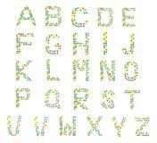 从儿童的马赛克信件的多彩多姿的字母表,ABC 图库摄影