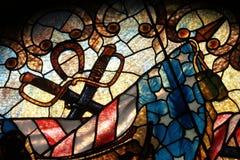 从克利夫兰战士和水手纪念碑的彩色玻璃 免版税库存照片