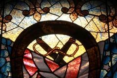 从克利夫兰战士和水手纪念碑的彩色玻璃 免版税图库摄影