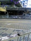 从公交车站的离开 库存照片