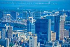 从六本木新城观察台的都市风景 库存照片
