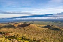 从冒纳凯阿火山,大岛,夏威夷的看法 免版税库存照片