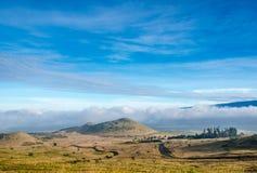 从冒纳凯阿火山,大岛,夏威夷的看法 图库摄影