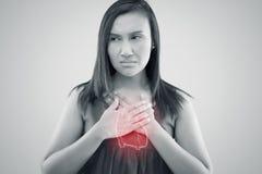 从冠状动脉病的心力衰竭,从冠状动脉病的心力衰竭 库存例证