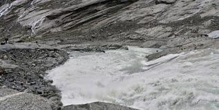 从冰川的挪威水 库存照片