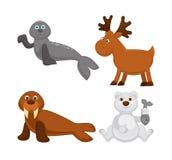 从冷的国家和北极的可爱的动物 皇族释放例证