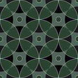 从几何摘要装饰品海洋蓝色树荫的无缝的方形的样式 图库摄影