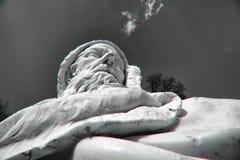 从凯瑟琳公园汇集的雕塑在普希金,在圣彼德堡附近 拍摄使用照片过滤器 免版税图库摄影