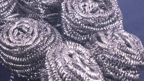 从削片的金属羊毛 股票录像