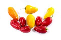 从十个气味甜椒的顶端 免版税图库摄影