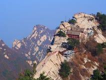 从华山山峰顶的一个惊人的看法  瓷县 图库摄影