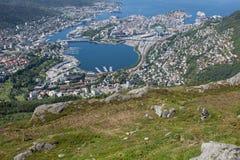从卑尔根,挪威的照片 库存照片