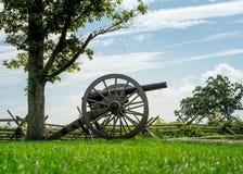 从南北战争的大炮 免版税库存图片