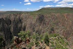 从南外缘的黑峡谷 图库摄影