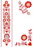 从南波希米亚Pelhrimov地区的民间装饰品 免版税库存图片