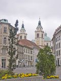 从卢布尔雅那的印象在斯洛文尼亚 库存图片