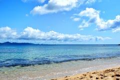 从印地安海湾海滩的看法在圣文森海岛上 圣文森特和格林纳丁斯 库存照片