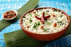 从印地安烹调的自创鲜美凝乳米, 免版税图库摄影
