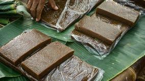 从印度尼西亚中爪哇省的Jenang kue蛋糕传统食物 免版税库存图片