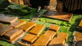 从印度尼西亚中爪哇省的Jenang kue蛋糕传统食物 免版税库存照片