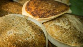 从印度尼西亚的Surabi或serabi传统食物 免版税库存图片