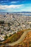 从双胞胎峰顶的旧金山视图 免版税图库摄影