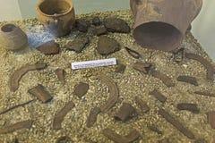 从古铜色囤积居奇的遗骸 图库摄影