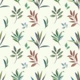 从叶子的装饰品绘与水彩 向量例证