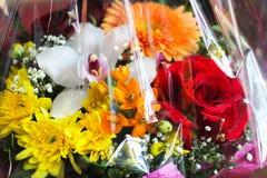 从各种各样的颜色的专属花束 免版税图库摄影