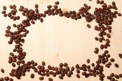 从咖啡豆的框架 免版税库存照片