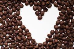 从咖啡豆的重点 免版税库存图片