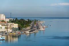 从哈瓦那口岸的Malecon 免版税图库摄影