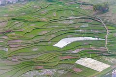 从唐Cao Moutian的Nghien村庄 免版税库存照片
