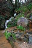 从喷泉出来的自然水 图库摄影