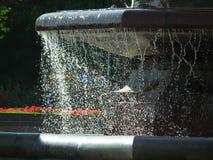 从喷泉的喷水 免版税库存图片