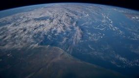 从国际空间站看见的行星地球ISS 从空间观察的美丽的行星地球 美国航空航天局时间 库存例证