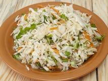 从圆白菜的沙拉 库存图片