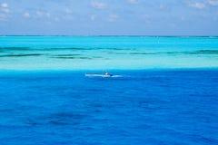 从圣安德列斯海岛的传统渔夫 免版税库存图片