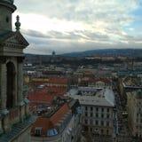 从圣斯蒂芬大教堂屋顶的看法 免版税库存图片