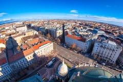 从圣斯蒂芬大教堂看的布达佩斯都市风景 匈牙利 库存图片