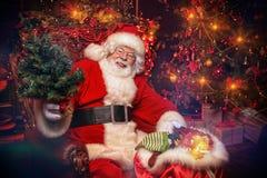 从圣诞老人的圣诞快乐 库存图片